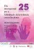 Cartell 25 novembre dia internacional per a l'eliminació violència envers les doens