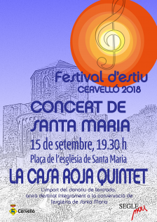 Cartell concert Santa Maria