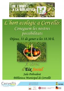 L'hort ecològic a Cervelló