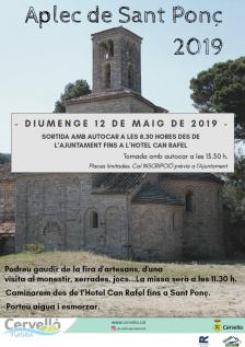Cartell Aplec de Sant Ponç 2019