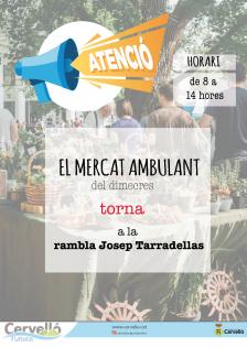 El mercat ambulant torna a la rambla J. Tarradellas