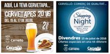 Cervetapes i Shopping Night 2016