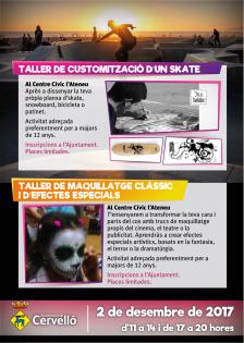 Tallers de customització d'skates i de maquillatge