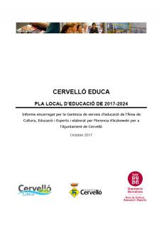 Portada Informe Pla Local Educació