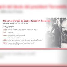 Programa actes 30è aniversari Tarradellas