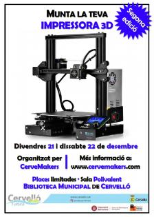 Cartell 2a edició Munta la teva impressora 3D
