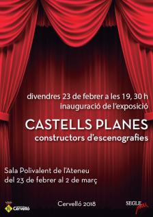 Cartell exposició Castells Planas
