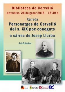 Cartell xerrada Llurba personatges segle XIX