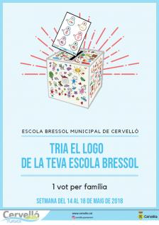 Cartell votacions logo Escola Bressol