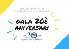 Cartell gala i sopar aniversari Futsal