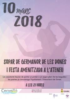 Cartell Sopar de les dones 2018