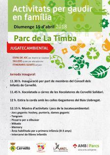 Cartell inauguració Jugatecambiental 15 d'abril