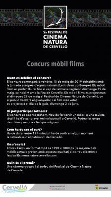 Cartell Concurs mòbil films