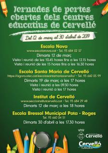 Portes obertes centres educatius Cervelló 2019