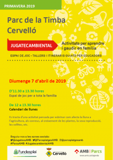 Cartell Jugatecambiental 7 d'abril 2019